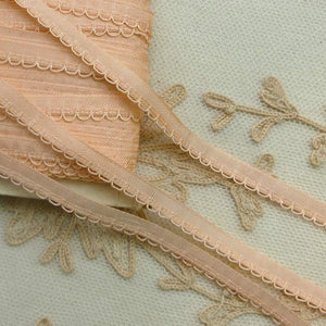 Vintage French Pink Lingerie Trim Cord Loop Detail