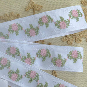 French Roses and Trellis Ribbon Trim