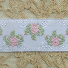 Load image into Gallery viewer, French Roses and Trellis Ribbon Trim