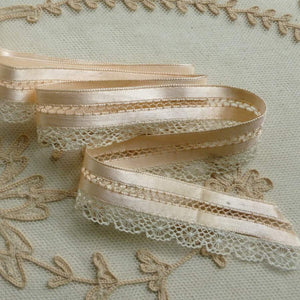 Satin Ribbon and Lace Lingerie Trim