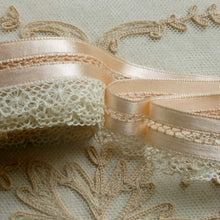 Load image into Gallery viewer, Satin Ribbon and Lace Lingerie Trim