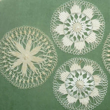 Load image into Gallery viewer, Antique Teneriffe Lace Medallions