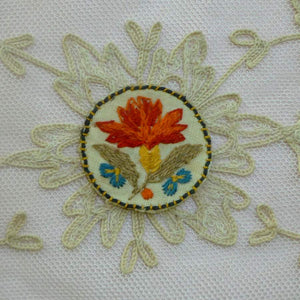 Antique Embroidered Flower Appliques