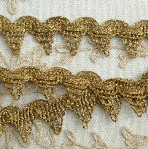 Antique Gold METAL Trim Cord and Metal Lace