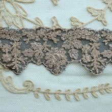 Load image into Gallery viewer, Antique French Embroidered Black Net Lace