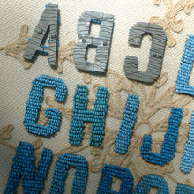 Load image into Gallery viewer, Antique French Blue Beaded Letters