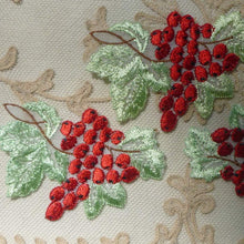 Load image into Gallery viewer, Vintage Swiss Organdy Embroidered Cherries/Berries Applique