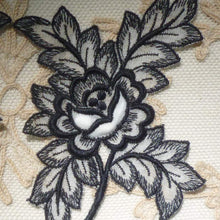 Load image into Gallery viewer, Vintage Swiss Padded Rose and Embroidered Leaf Motifs