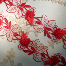 Load image into Gallery viewer, Vintage Swiss Embroidered Organza and Artificial Straw Flower Motif
