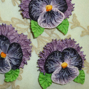 French Lavender Ombre Ribbon Pansy