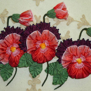 Pink and Purple Pansy With Picot Ribbon Detail