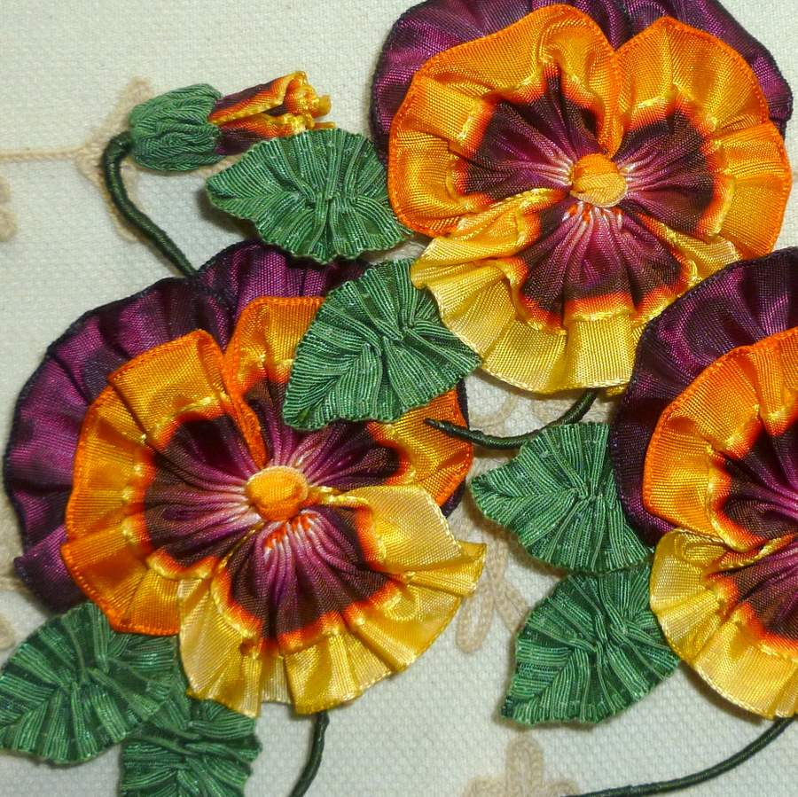 Classic French Ombre Ribbon Pansy