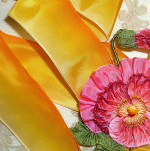 Classic French Light to Dark Yellow Ombre Ribbon