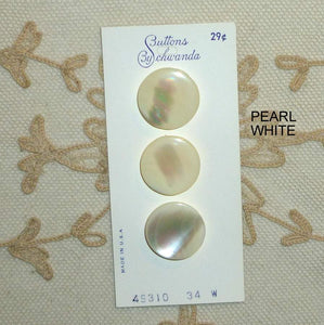 Quality Ocean Pearl Buttons Circa 1950/60's