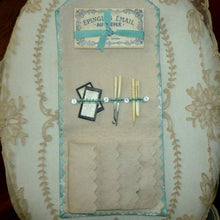 Load image into Gallery viewer, Hand Sewn French Inspired Sewing Case with Antique Trims