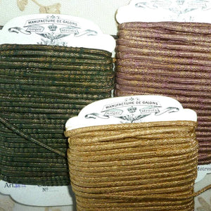 Antique French Woven Cord Gold Metal Threads