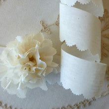 Load image into Gallery viewer, Muslin Trim with Antique Pinked Edge