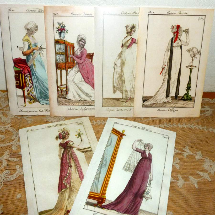 Large French Fashion Cards