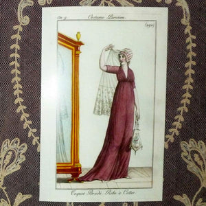"Large French Fashion Cards ""Costume Parisien """