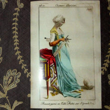 "Load image into Gallery viewer, Large French Fashion Cards ""Costume Parisien """
