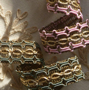 French Gold Metal and Cord Trim