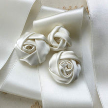 Load image into Gallery viewer, Vintage Wide Width Ivory  Satin Ribbon