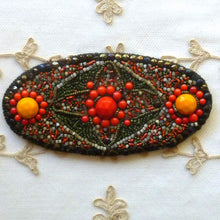 Load image into Gallery viewer, Antique Hand Beaded Applique