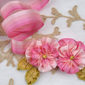 Vintage Four Pinks French Ombre Ribbon
