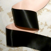 Load image into Gallery viewer, Vintage French Pink and Black Satin Ribbon