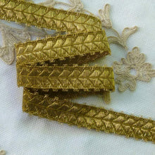Load image into Gallery viewer, Gold METAL Trim with Fringed Picot Edges