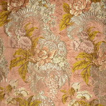 Load image into Gallery viewer, Belle Époque French Silk and Silver Metal Threads  Floral Brocade Yardage