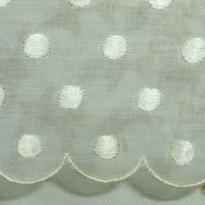 Scalloped Organdy with Embroidered Dots