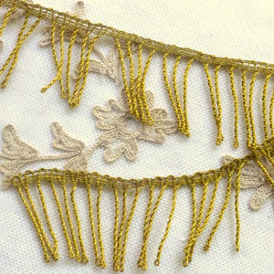 Antique French Gold Metal Fringe