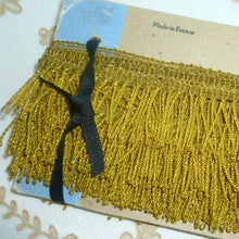 Load image into Gallery viewer, Antique French Gold Metal Fringe