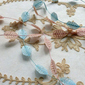 Ethereal Leaf Garland with Gold or Silver Tinsel Detail