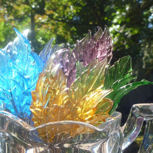 Vintage/Antique Venetian Art Glass Leaves