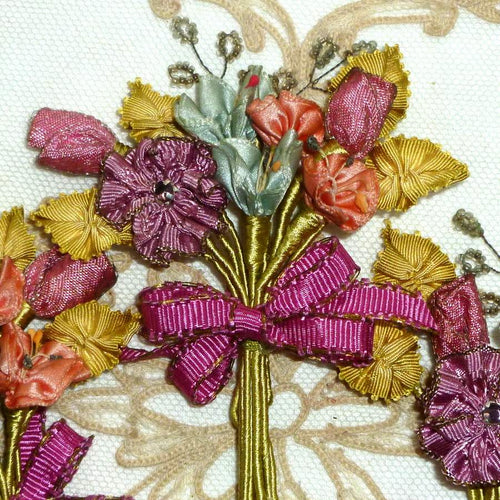 Antique Silk Satin and Picot Ombre Bouquet