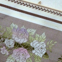 Load image into Gallery viewer, Vintage French Wide Taffeta Ribbon With Woven Ombre Roses