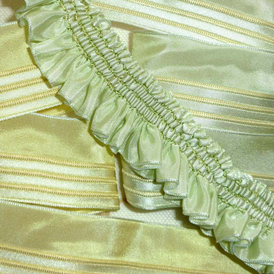 New Old Stock French Ribbon for Ruffles