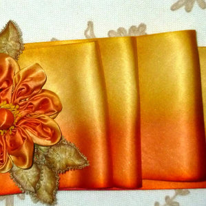 Art Dyed Silk Satin For Flowers