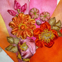 Load image into Gallery viewer, Art Dyed Silk Satin For Flowers