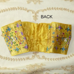 Antique Silk & Gold Work Embroidered Sash