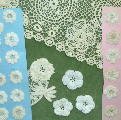 Antique Hand Made Lace Flowers Clones Lace