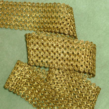 Load image into Gallery viewer, Lacy Woven Gold Metal Trim