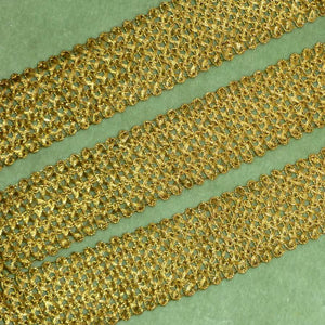Lacy Woven Gold Metal Trim