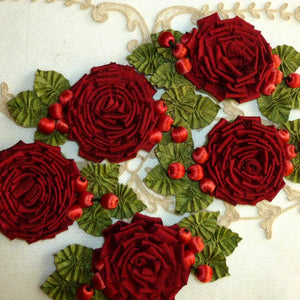 Silk Roses with Vintage Buds