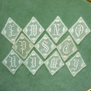 Antique Parisian Lace Monograms