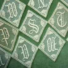 Load image into Gallery viewer, Antique Parisian Lace Monograms