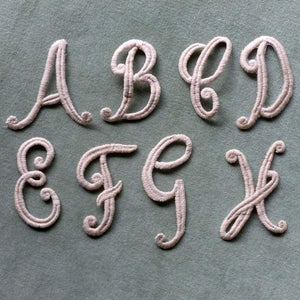 Vintage Iron On Script Monograms Three Inch