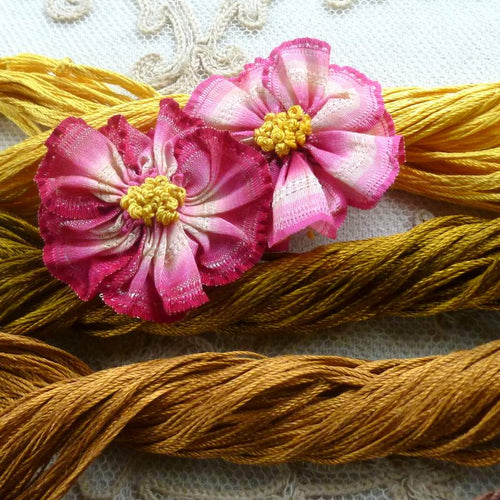 Vintage Silk Buttonhole Twist Forty Yard Hanks